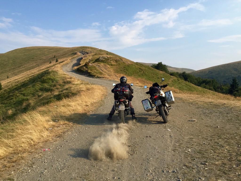 Hory v Rumunsku na motorkach