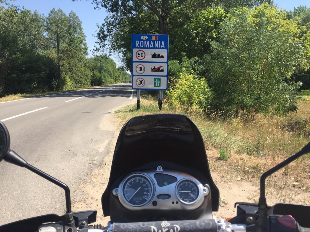 Rumunské hranice na motorkách