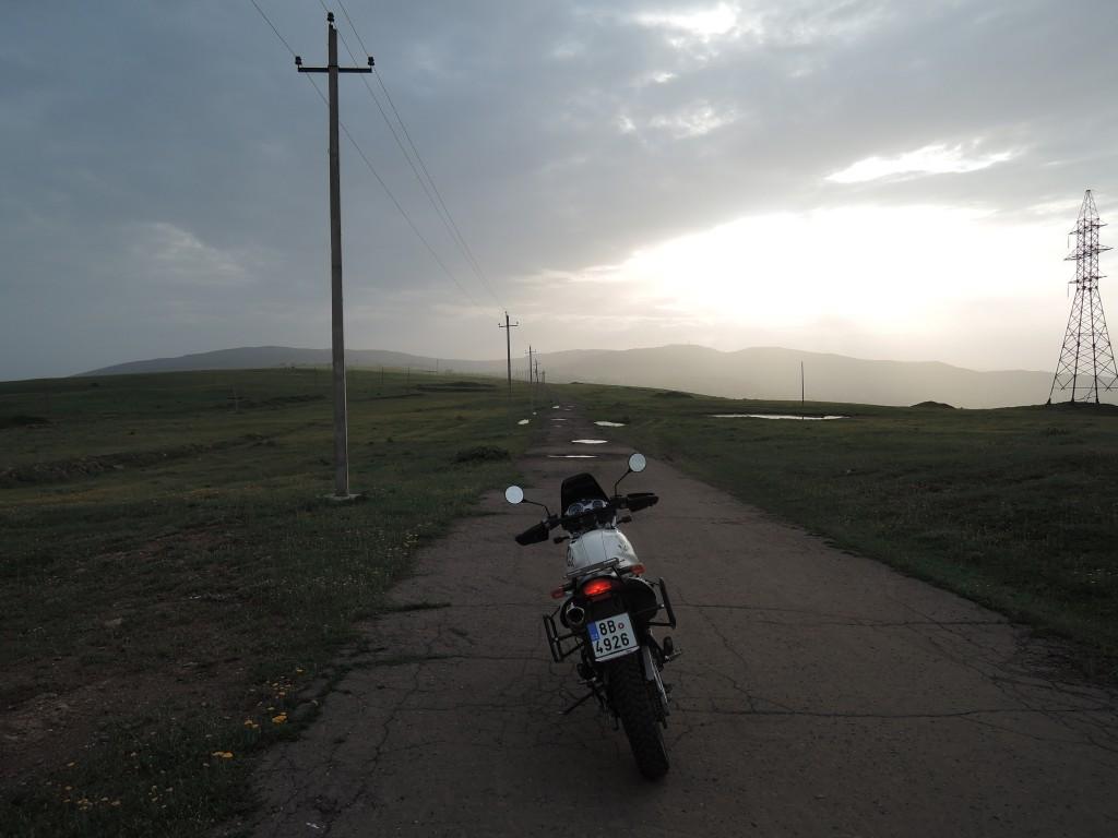 V podvečer pár kilometrů za Tbilisi