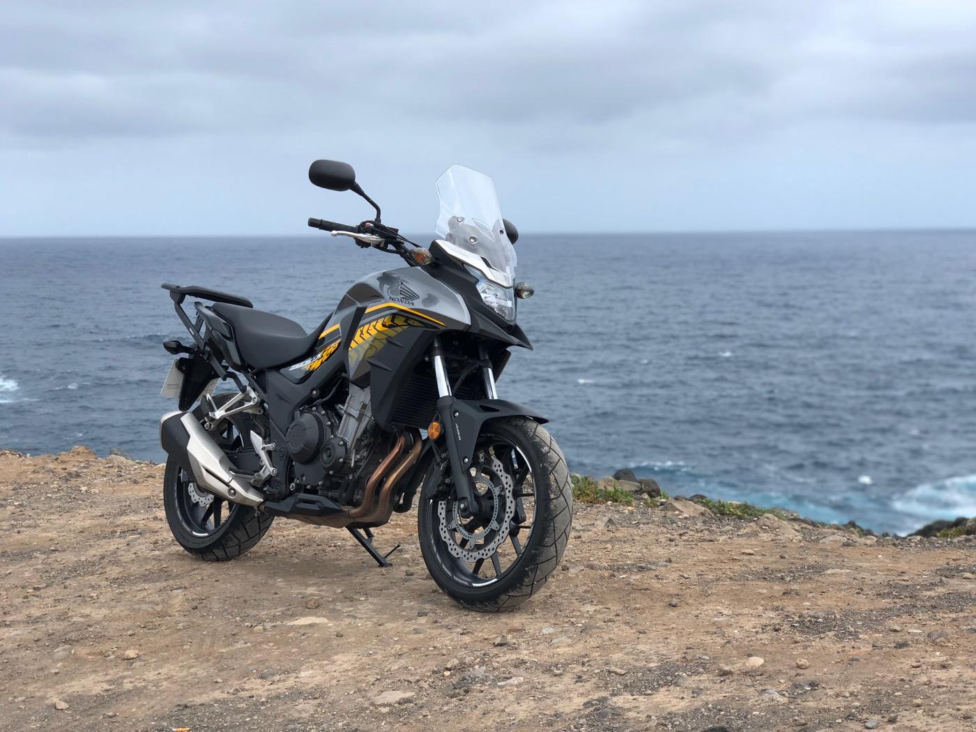 Honda CB500X - pohled z boku