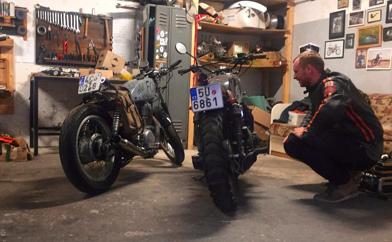 Na návštěvě v Gas & Oil Bespoke Motorcycles v Českých Budějovicích