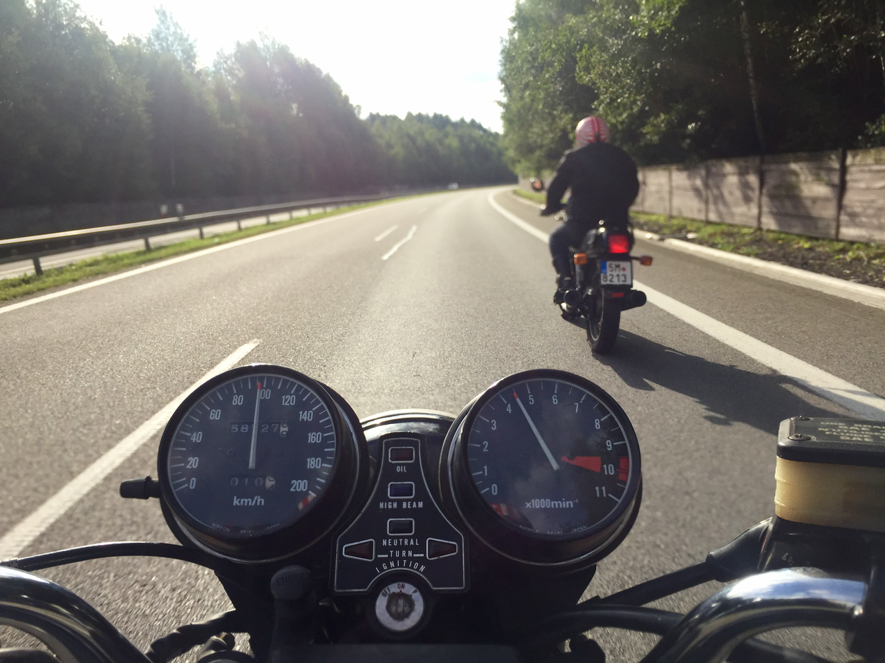 Honda CB650 & Honda XBR 500 výlet