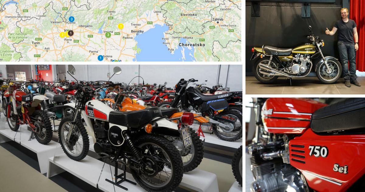 Mapa motorkových míst v Itálii
