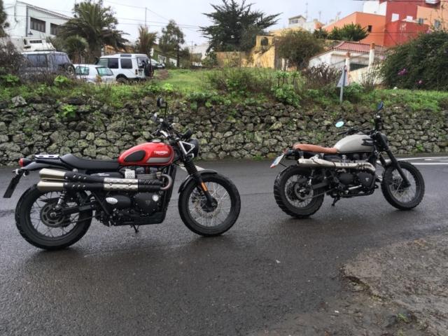 Starý a nový Triumph vedle sebe